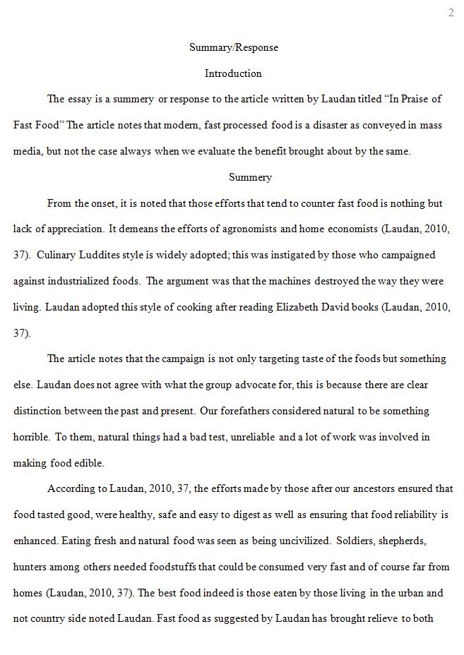 chicago essay examples